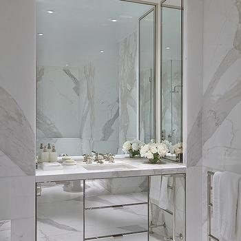 Mirrored Washstand, Contemporary, bathroom, Todhunter Earle Interiors