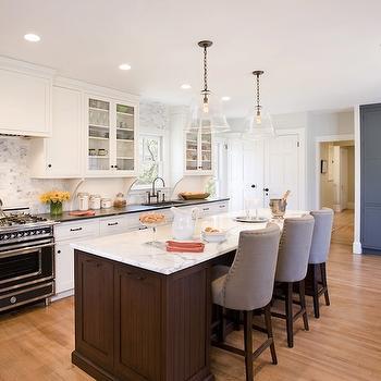 Bianco Statuario Marble, Transitional, kitchen, Venegas and Company
