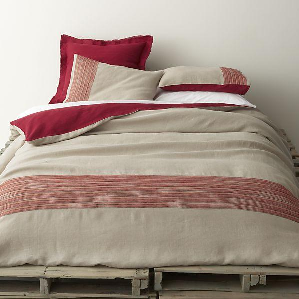 stripes gray bed linens
