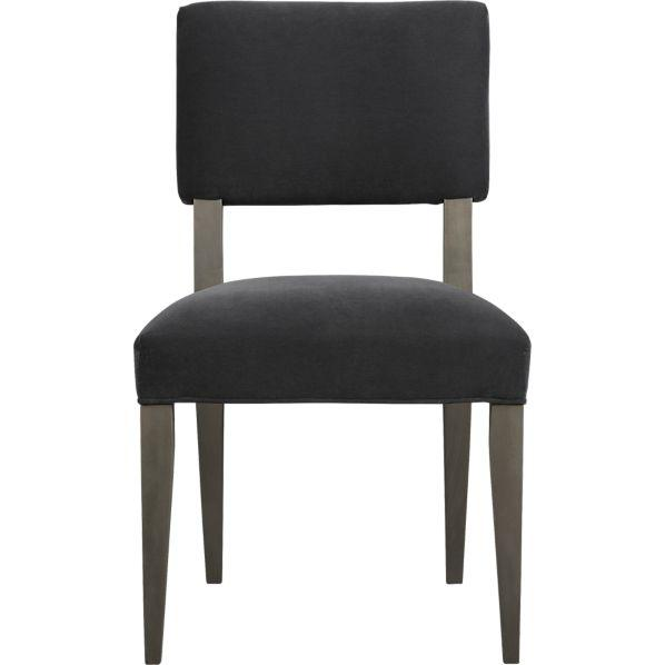 Gray Velvet Side Chair