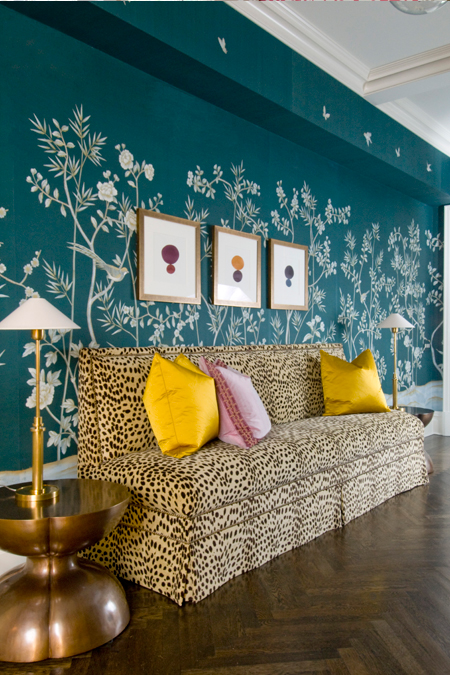 Yellow Chinoiserie Wallpaper Design Ideas