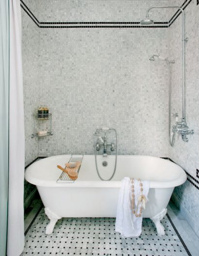 Bathtub In Shower Transitional Bathroom Decormag