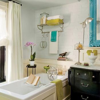 Turquoise Blue Accents, Eclectic, bathroom, decormag