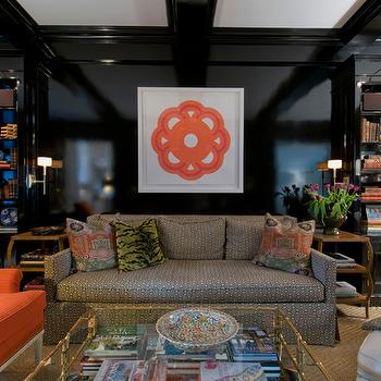 Lacquered Walls, Contemporary, den/library/office, MMR Interiors