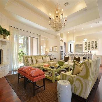 Corner Fireplace, Contemporary, living room