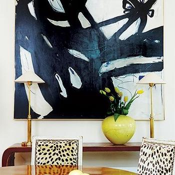 Cheetah Print Chairs, Contemporary, dining room, MMR Interiors