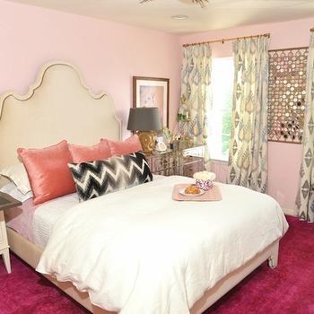 Pink Bedroom, Eclectic, bedroom, Dalliance Design