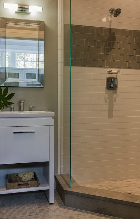 Corner Shower Ideas - Contemporary - bathroom - Jill Litner Kaplan ...
