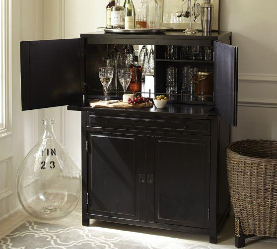 Black Mirrored Interior Storage Bar