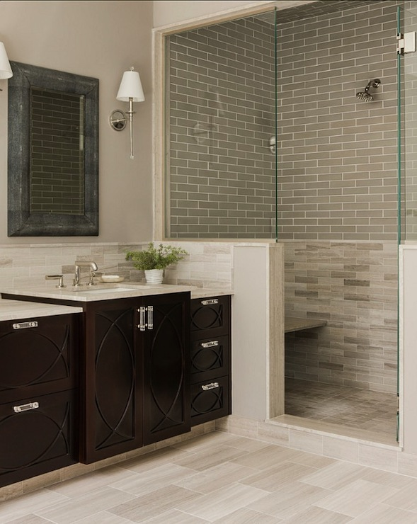 Model Bathroom Glass Tile Accent Ideas Bathroomaccenttilecolor