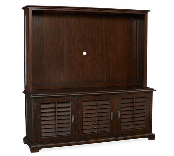 Holstead Shutter Large Media Console Hutch Pottery Barn