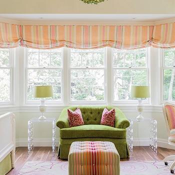 Lucite End Tables, Traditional, girl's room, Jill Litner Kaplan Interiors