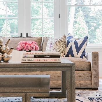 Attractive Jill Litner Kaplan Interiors · Gray Coffee Table
