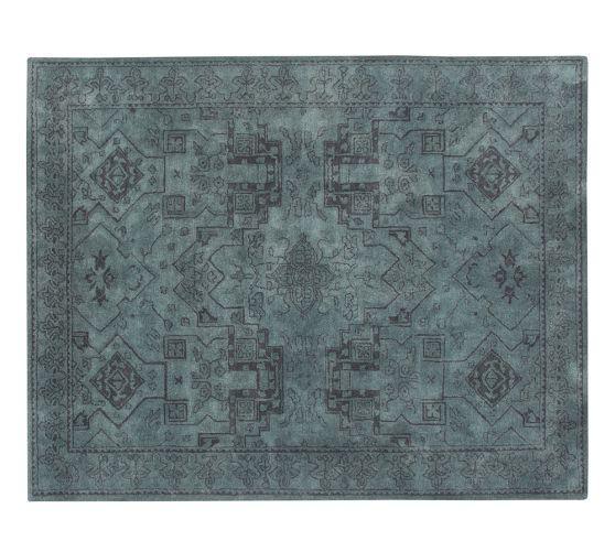 Hazen Medallion Blue And Gray Tufted Rug