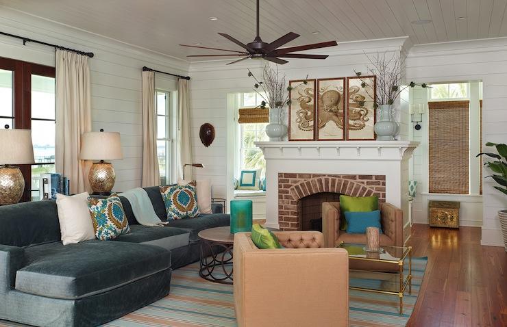Living Room Beadboard Ceiling