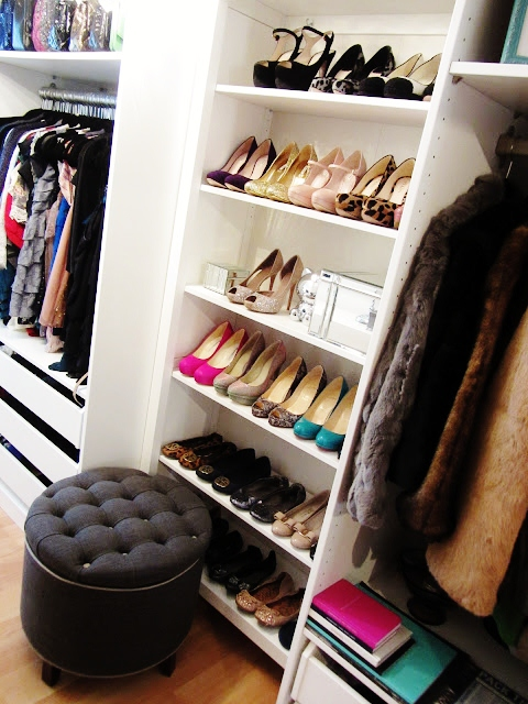Shoe Cubbies Transitional Closet