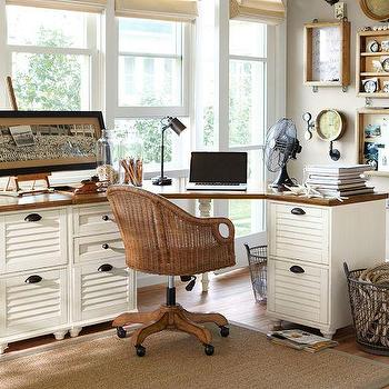 White Rowan Classic Corner Desk
