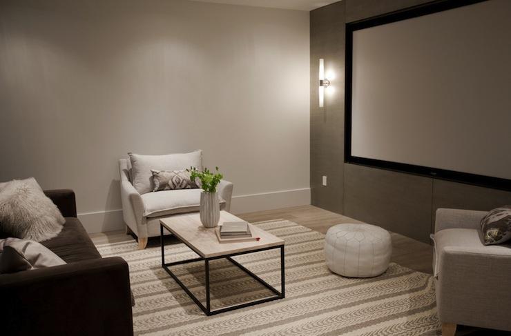 Basement Movie Room Contemporary basement The Cross Decor Design