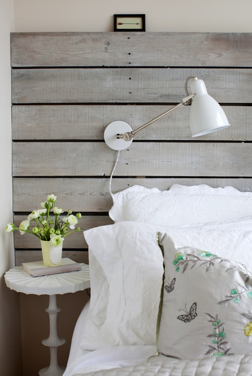 Wood Plank Headboard Design Ideas