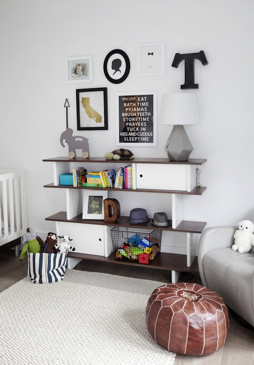 Oeuf mini library contemporary nursery the cross - Nursery ideas small spaces style ...