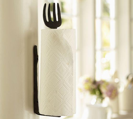 iron fork cucina wall mount paper towel holder