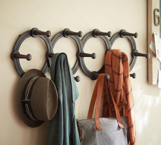 Iron Circles Expandable Wall Mount Coat Rack