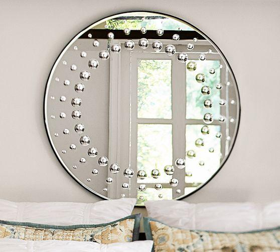 Raised Circle Dot Mirror