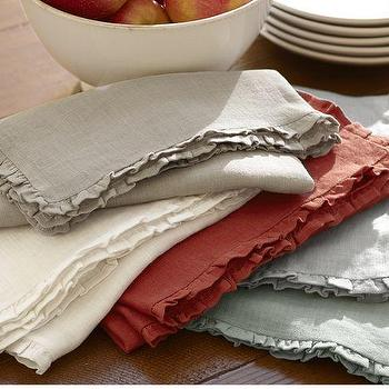 Rustic Luxe Linen Napkins, Set of 4, Pottery Barn