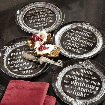 Vampire Salad Plate, Set of 4, Pottery Barn