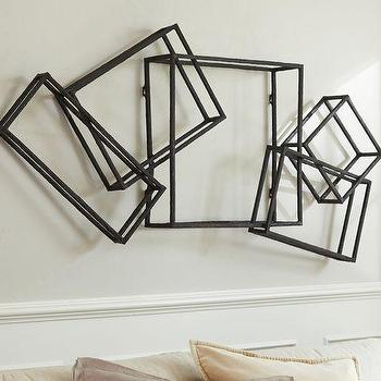 Bronze Finish Interlocking Cubes Wall Decor
