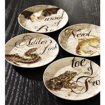 Spell Salad Plate, Set of 4, Pottery Barn
