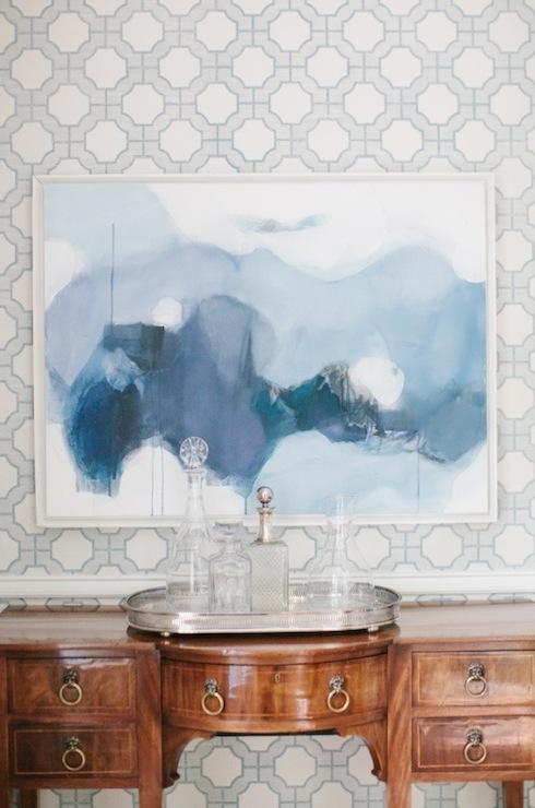 Blue Imperial Gates Wallpaper Design Ideas