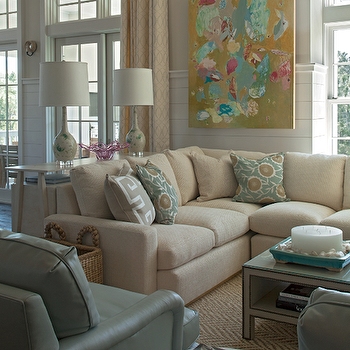 Tan Sectional View Full Size Chic Living Room