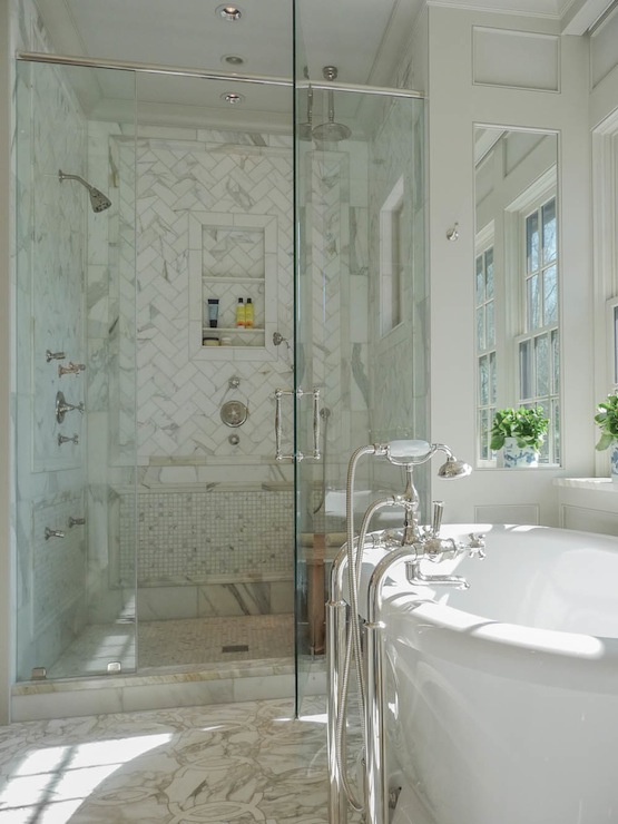 Master Bath Shower Ideas Transitional Bathroom