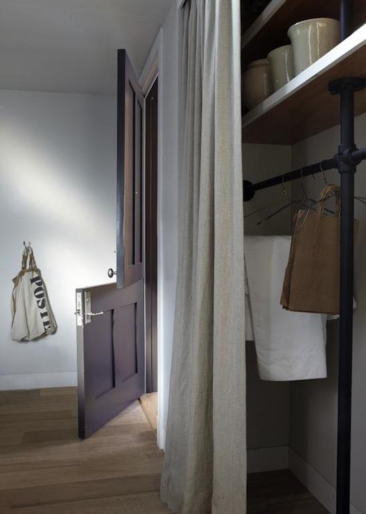 Curtains In Place Of Closet Doors Design Ideas