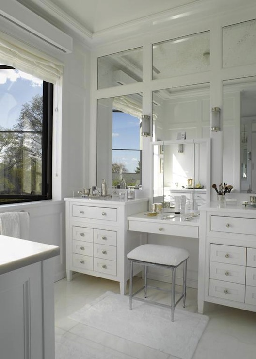 Wonderful Double Bathroom Vanities With Makeup Area DOUBLE BOWL BATHROOM VANITY