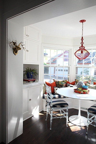 Bay Window In Kitchen Eclectic Dining Room Hgtv