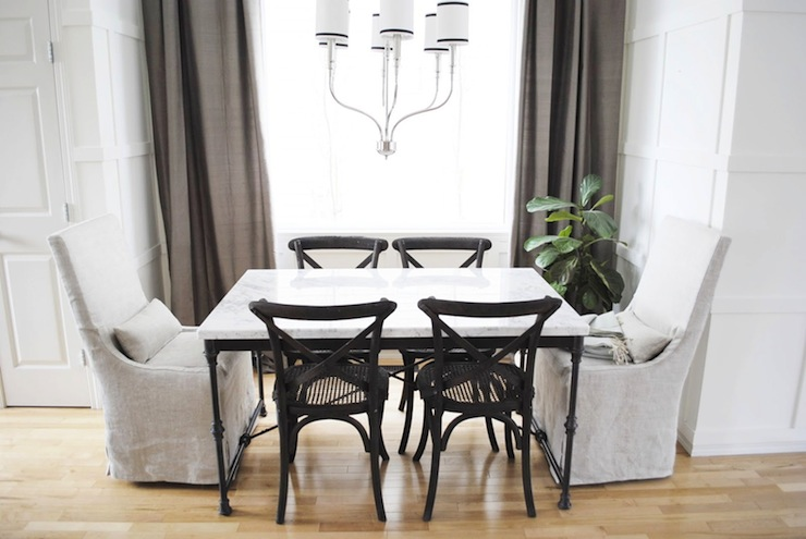 Restoration hardware dining chairs transitional dining for Kitchen table cafe menu