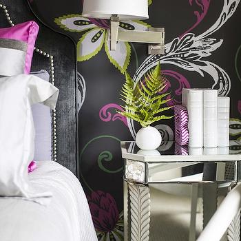 Pink and Black Girls Room, Contemporary, girl's room, B Metro