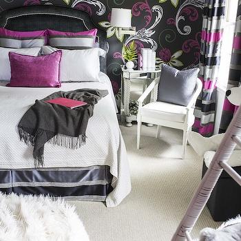 Pink and Gray Girls Room, Contemporary, girl's room, B Metro