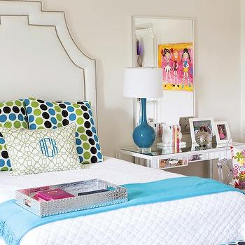 Mirrored Desk, Contemporary, girl's room, B Metro