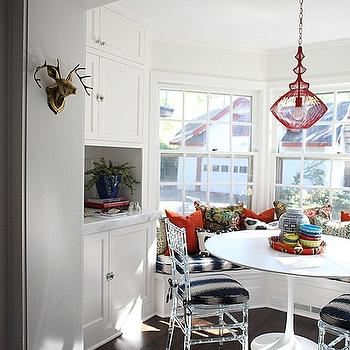 Bay Window in Kitchen, Eclectic, dining room, HGTV