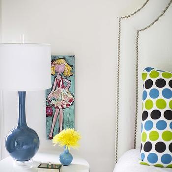 Round Nailhead Table, Contemporary, Girl's Room, B Metro