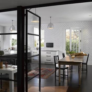 Subway Tiled Walls, Contemporary, kitchen, Heiberg Cummings Design