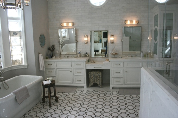 Drop Down Make Up Vanity Traditional Bathroom Jane