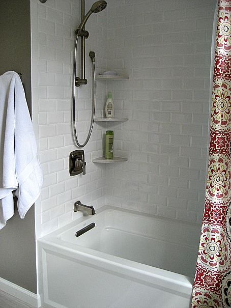 Corner Shower Shelves Transitional Bathroom Sherwin