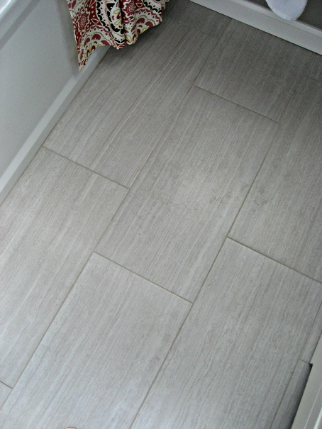 Creative Faux Wood Ceramic Tile In The Bathroom Easy To Clean And Still Gets