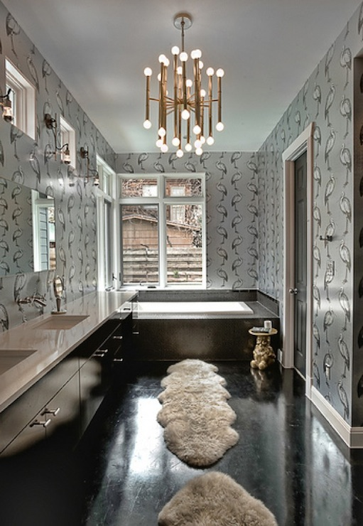 view full size  Glamorous bathroom with silver. Gold Metallic Sheen Bathroom Vanity Design Ideas