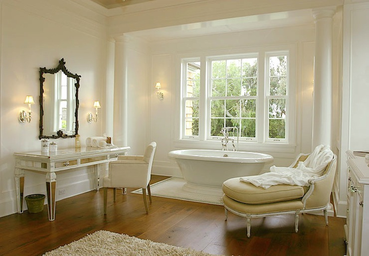 mirrored makeup vanity french bathroom morrow and morrow On bathroom chaise