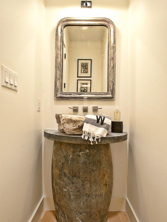 Zinc Bathroom Sinks stone sink - eclectic - bathroom - glynis wood interiors